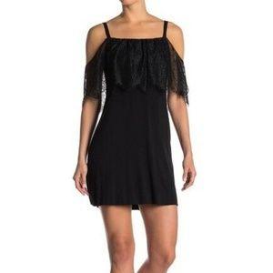 BAILEY 44 Dark Horse Lace Trim Cold Shoulder Dress